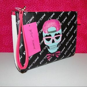 NWT Betsey Johnson Clutch/Cosmetic Wristlet